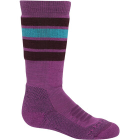 Icebreaker Ski Medium OTC Socks with Stripes Kids amore